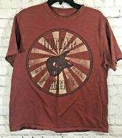 Cremieux Mens Red Graphic Tee Shirt Size Large Short Sleeve Guitar Shack