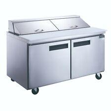 New Dukers Dsp60 16 S2 2 Door Commercial Food Prep Table Refrigerator