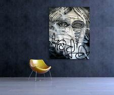 Abstract Graffiti Original Street Art Painting Canvas Modern Pop Wall Big Face