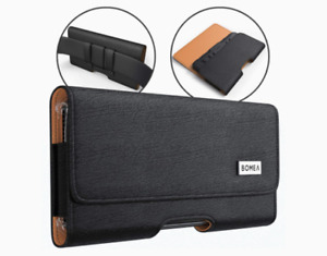 Black Phone Holster Phone Pouch with Belt Clip and Loop For iPhone 6/ 6s/ 7/ 8