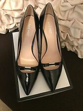 NINE WEST WOMEN'S JAMITAO Leather Dress Pumps Heels BLACK-SIZE 11M