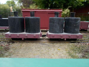 On18 7 1/2 foot Twin Pot Tank Car Kit 2 Pack by Railway Recollections not On30