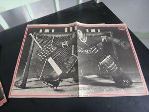 montreal canadiens vintage rogatien vachon no 30 black & white poster very r