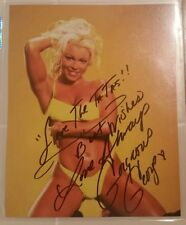 WCW Diva Gorgeous George 8x10 photo Save the tatas wwe Autographed Signed Bikini