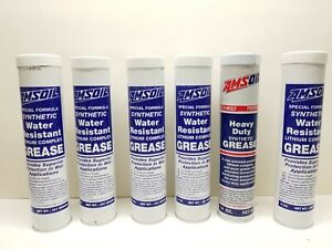Lot of 6 14oz 397grams AMSOIL Water Resistant Synthetic Grease