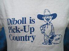 vintage 90s Diboll Texas Pick-Up Country T-Shirt Medium cartoon cowboy tourist