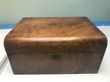 Vintage Antique Walnut Writing Slope Curved Top