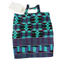 African Kente Print Tote Travel Bag with pouch Africa apkt1