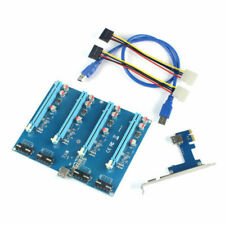 Xt-Xinte Pci-E Adapter Card 1 to 4 1X to 16X Riser Mining Card Connector for Pc