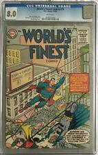 World's Finest Comics #76 (5-6/55) CGC 8.0 WHITE Batman Superman Robin DC Comics