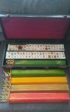 Rare Vintage Lucite Mah Jong Set 152 Tiles + 5 Racks + Bakelite Counter + Case