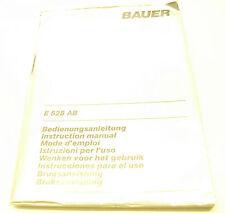 Bedienungsanleitung  Bauer E 528 AB Blitzlicht