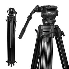 New 1.8m Pro Heavy Duty Dslr Video Camera Camcorder Fluid Head Tripod WF-718