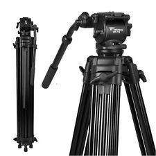 New 1.8m Pro Heavy Duty Dslr Video Camera Camcorder Fluid Head Tripod WF-718