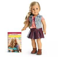 "American Girl 18"" Tenney Grant Doll, NEW IN BOX! Blonde Hair & book(Spanish)"