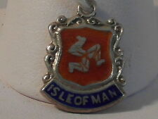 E11 SOLID SILVER THE COATS OF ARMS OR CREST OF ISLE OF MAN CHARM