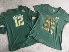 2 Green Bay Packer T-Shirt by NFL Team Apparel MATTHEWS & RODGERS gold logo