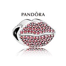 Pandora Abalorio Beso Autentico Plata 925 con Circonitas Con bolso