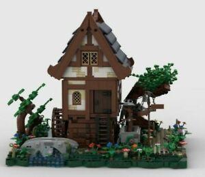 LEGO CUSTOM MODULAR INSTRUCTIONS MEDIEVAL WATERMILL PDF MOC CASTLE NO BRICKS