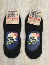 2 prs Mens Footliners Foot Covers Liners No Show Socks Black Loafer Dress Casual