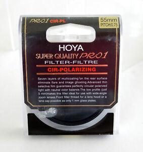 Hoya 55mm PRO1 Cir-Polarising Lens Filter