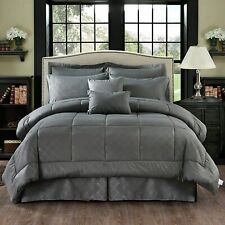 Merry Home 10 Piece Comforter Set Bed-in-A-Bag with Sheet Set - Plush Luxury Sol