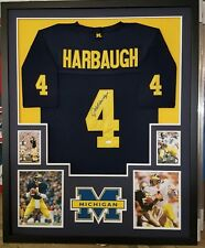 JIM HARBAUGH MICHIGAN WOLVERINES  AUTOGRAPHED FRAMED JERSEY JSA COA