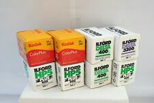 6 assorted  35m Ilford B&W films + 2 rolls of Kodak Color 200 - all expired.