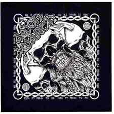 Amon Amarth Bearded Skull Bandana Black Cotton Head Wrap Bandanna Scarf Official