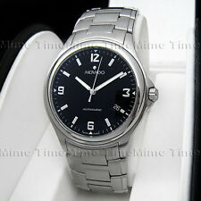 Men's Movado MUSEUM SPORT Automatic Black Dial w/ Date Stainless Swiss Watch