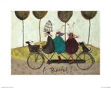A Bikeful! Sam Toft Fantasy Art Print 16x13 Image Conscious