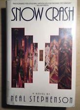SNOW CRASH HB 1st Edition 1st Print Ex-library By Neal Stephenson. Hardback