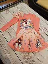 2PC Childrens Girls Kids Unicorn Top T-shirt  Outfit Dress Set size 2-3,3-4,5-6