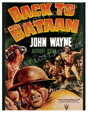 BACK TO BATAAN LOBBY CARD POSTER OS 1945 JOHN WAYNE ANTHONY QUINN