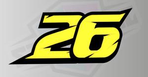 3 X Custom Racing Numbers - Vinyl Stickers / Decals - Race Motorbike LAMINATED