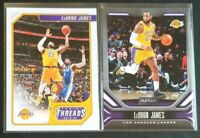 Lot (2) Lebron James 2019-20 Panini Chronicles Los Angeles Lakers