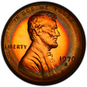 PR66RB 1970-S 1C Lincoln Memorial Proof Cent, PCGS Secure- Target Toned