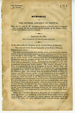 1831 Booklet General Assembly of Missouri Territorial Expansion Mounted Force