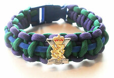 ROYAL REGIMENT OF SCOTLAND PARACORD WRISTBAND WITH BADGES