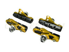 New Road Bicycle Bike Caliper Cartridge Brake Pads Shoes Gold 2 Pairs
