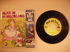 Peter Pan Book & Record ALICE IN WONDERLAND 45rpm 70s