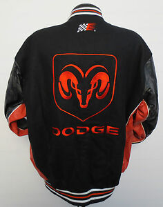 DODGE KASEY KAHNE WOOL LEATHER SLEEVE REVERSIBLE JACKET CHASE AUTHENTICS NASCAR