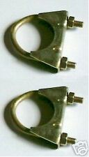 """Paire Pinces D'échappement 1 5/8 """" (42mm) Costume 1950s-70s Classic"""