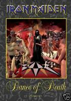 """IRON MAIDEN FLAGGE / FAHNE """"DANCE OF DEATH"""" POSTER FLAG"""