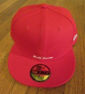 Supreme Reverse Box Logo New Era Hat Cap Size 7 1/2 Red SS21 Brand New 2021 DS