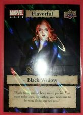 Marvel Ages 2020 Upper Deck Flavorful Foil Black Widow Card #F-22 Rare