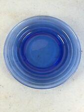 """Cobalt Blue Glass Plate 6"""" Diameter"""