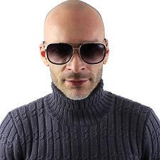 Avocet Oversized Square Vintage Aviator Gold Metal Bar Men Designer Sunglasses
