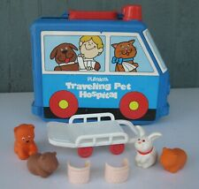 Vintage Playskool Traveling Pet Hospital w/ Accessories