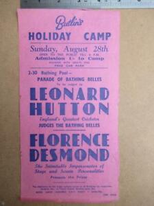 Butlins Bating Belles Parade   single sheet handbill     more image down listing